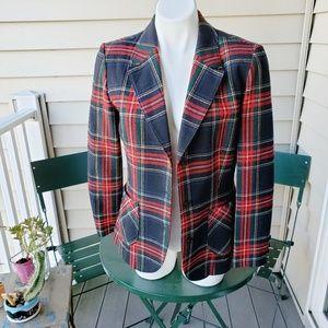 Vintage Pendleton Tartan Plaid Blazer